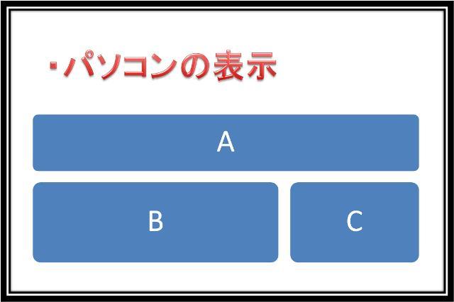 パソコン表示のイメージ